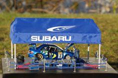 Subaru Impreza(B22 prodrive) WRC 98 Monte Carlo Colin McRae 1/24 Scale Model Diorama