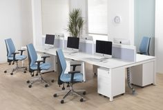 Office furniture bench desks in white finish ideal for the commercial office Bench Furniture, Home Office Furniture, Cheap Furniture, Office Cupboards, Office Shelving, Printer Stand, Shabby Chic Homes, Home Office Design, Desks
