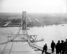 Detroit Metro Times Galleries - 20 stunning photos from the Detroit-Windsor Ambassador Bridge construction