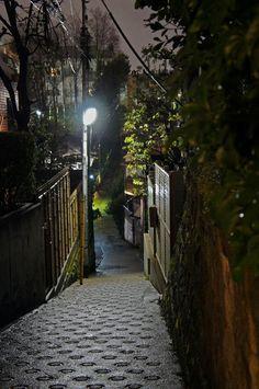 夜散歩のススメ「釣堀坂のV字坂」東京都港区