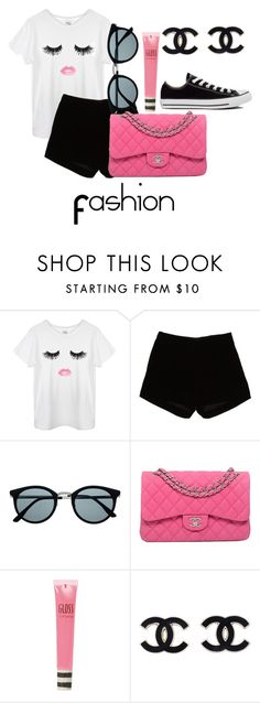"""Untitled #2"" by jaylacrazy ❤ liked on Polyvore featuring Andrew Gn, Retrò, Chanel, Topshop and Converse"