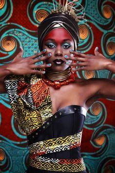 Tyler Dolan photo for Afrovibes 2014 featuring  Fashion designer and makeup artist Ebony Rae Aberdein. Model Anele nZuza__1412261386_105.237.223.235