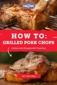 If you& ever wondered how to season, prep, brine and grill a perfectly tender pork chop, you& come to the right place. Master these seven simple steps and you& be able to fire up the best chops on the block, with Kingsford® Charcoal. Pork Ham, Grilled Pork Chops, Grilled Meat, Pork Loin, Rib Recipes, Pork Chop Recipes, Dinner Recipes, Recipies, Barbecue Recipes