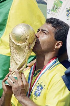 NUMBER Second most prolific goalscorer in history of the game,Romario was devastating in front of goal.Not winning Champions League is his big flaw,but he did leave his mark when needed the most,winning a World Cup with Brazil in a – Brazil Football Team, Brazil Team, God Of Football, Football Icon, Best Football Players, National Football Teams, Football Kits, Football Soccer, Soccer World
