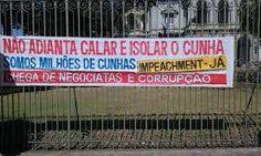 Folha certa : Hipocrisia: Somos milhões de Cunhas, dizia a faixa...
