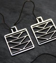 Steel Diamond Tower Earrings by Audra Azoury Jewelry on Scoutmob Shoppe