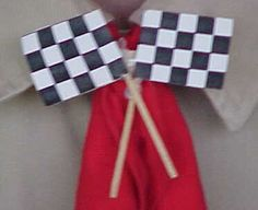 Easy checkered flag neckerchief for pinewood derby