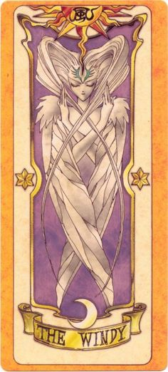 This is The Windy Clow Card from the Card Captor Sakura anime and manga series by CLAMP