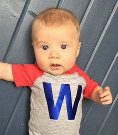 #flythew Chicago Cubs Fly the W Infant Onesie by imaginationpad on Etsy https://www.etsy.com/listing/274771262/chicago-cubs-fly-the-w-infant-onesie