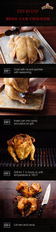 This cookout classic is ready for BBQ season with a savory spice rub that adds bold flavor to every bite. Get the step-by-step for the juiciest grilled Beer Can Chicken recipe you've tasted.