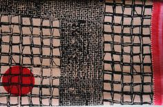 block printing on khadi saree
