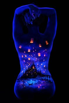 """UV Body Painting"", an incredible series of creations from Californian photographer John Poppleton"