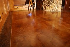 staining old concrete floor -