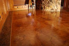 staining old concrete floor -