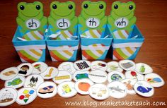 Classroom Freebies Too: Consonant Digraph Sorting Activity  Beginning of the year sort by category (IE: people, fish, food ect. In january: can be used (Pre-K concepts) to identify first letter sound.
