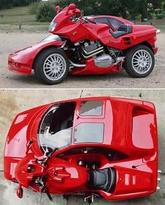 Car and motorcycle combo