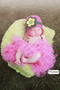 Crochet Pink or Purple John Deere Baby Girl Hat by gammyshouse f656e8dddd24