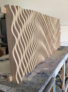 Large Wooden Wall Art Parametric Sculpture Wood Sculpture | Etsy