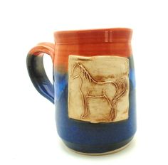 Horse Mug custom handmade pottery mug by Jewel by jewelpottery