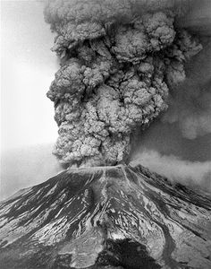 Mount St. Helens in Washington state blows its top during a massive eruption on May 18, 1980. Ash from the eruption went thousands of feet into the air and fell in 11 states. The eruption claimed 57 lives.