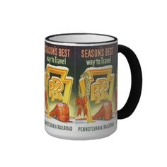Pennsylvania Railroad,Season's Best Way To Travel Ringer Mug