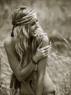 Hippie, Implied, Field, Happy, Scarf, Headdress, Skirt necessary. #dental #teeth #smile