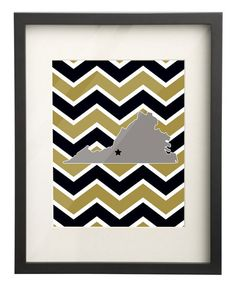 Ferrum College Virginia State Map 8x10 by PaperFrecklesCampus, $15.00 Use: PIN10 for 10% OFF!