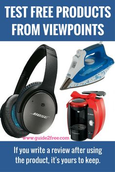 Apply to Test FREE Products from ViewPoints! Viewpoints is looking for  product testers to get d5c6912dfd06b