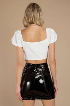 Latex Skirt, Latex Dress, Sexy Skirt, Dress Skirt, Vinyl Clothing, Elegantes Outfit, Black Leather Skirts, Evening Outfits, Motorcycle Style