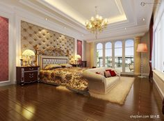 simple modern ceiling for master bedroom with beautiful wooden flooring ideas
