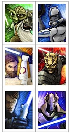 STAR WARS Clone Wars Acid-Free Sticker Sheets - 72 Stickers Total @ niftywarehouse.com