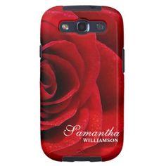 Pretty Red Rose Samsung Galaxy s3 case