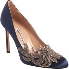 "Manolo Blahnik ""Bella Swan"" wedding shoe in navy - Love!"