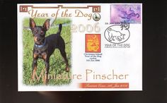 MINIATURE PINSCHER 2006 YEAR OF THE DOG STAMP COVER 5 in Collectables, Animals | eBay