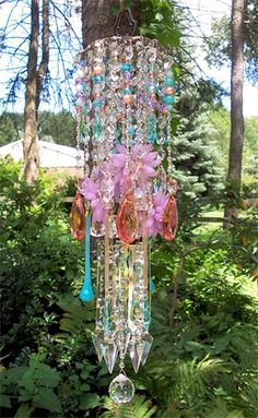 Colorburst Antique Crystal Wind Chime