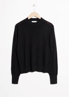 & Other Stories | Straight Mock Neck Sweater