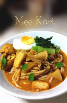 Resepi mudah open house jamuan Mee Kari Simple