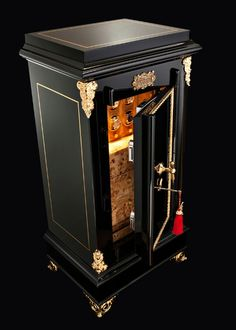To keep your timepieces safe, watch winders have an uncommon and elegant design, representing the essence of empowerment and sophistication. Antique Safe, Safe Lock, Gold Wood, Objet D'art, Luxury Furniture, Contemporary Design, Craft, Restoration, Antiques