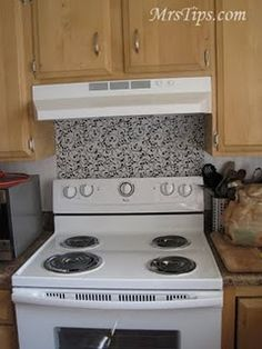 Cheap stove backsplash!