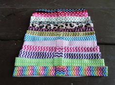 Plain Headband - Patterned Thick Elastic Headbands - Chevron Polka Dot Animal Print by HairAccessoriesByMeg, $11.50