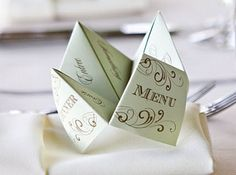 Menu Noel Origami