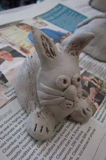 Pinch Pot Bunnies. www.onceuponanartroom.com