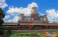 Main Street Train Station, Magic Kingdom, Walt Disney World, FL