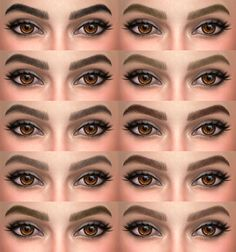 Lana CC Finds - Eyebrows 06 & eyebrows 07 by alf-si