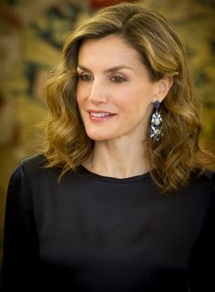10/27/16*Queen Letizia of Spain attends audiences at Zarzuela Palace