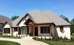 Craftsman Style House Plans, Country House Plans, New House Plans, House Floor Plans, Brick House Plans, Rustic Houses Exterior, Dream House Exterior, Exterior House Colors, Exterior Design