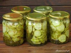 Ogórki po królewsku Preserves, Pickles, Cucumber, Mason Jars, Mango, Food And Drink, Canning, Drinks, Diet