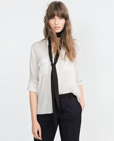 Image 2 of LONG BLOUSE from Zara
