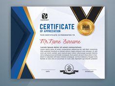 Certificate Of Recognition Template, Certificate Design Template, Carl Sagan, Lorem Ipsum, Appreciation, Education, Cards, Search Video, Vector Photo