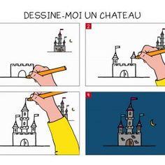 Apprendre à dessiner un château en 3 étapes